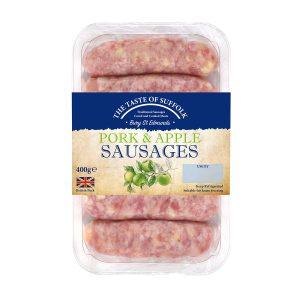 Pork & Apple Sausages (400g)
