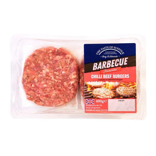 Chilli Beef Burgers (400g)